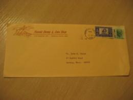 HONOLULU 1966 Stamp & Coin Shop HAWAII Cancel Cover USA - Hawaï