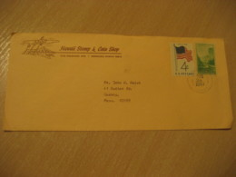 HONOLULU 1967 Stamp & Coin Shop HAWAII Cancel Cover USA - Hawaï