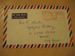 HONOLULU 1967 HAWAII Meter Air Mail Cancel Cover USA - Hawaï