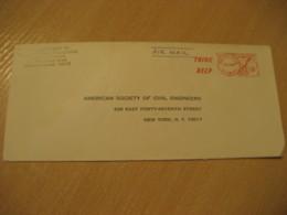 HONOLULU 1967 Think Deep HAWAII Meter Air Mail Cancel Cover USA - Hawaï