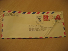 HONOLULU 1968 Colony Surf HAWAII Air Mail Cancel Postal Stationery Cover USA - Hawaï