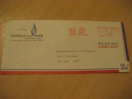 HONOLULU 1969 Gas Company Social Security Family Protection HAWAII Meter Air Mail Cancel Cover USA - Hawaii