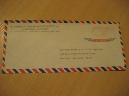 HONOLULU 1969 Structural Engineers HAWAII Meter Air Mail Cancel Cover USA - Hawaii