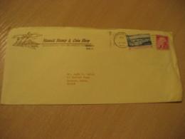HONOLULU 1971 Stamp & Coin Shop HAWAII Cancel Cover USA - Hawaï