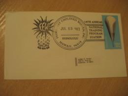 HONOLULU 1983 Pinneapple Federally Employed Women HAWAII Cancel Cover USA - Hawaï
