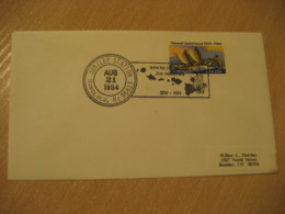 HONOLULU 1984 Jubilee 25th Anniversary HAWAII Cancel Cover USA - Hawaï