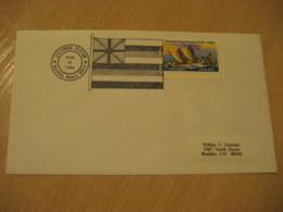 HONOLULU 1984 Statehood Flag HAWAII Cancel Cover USA - Hawaï