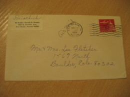 EWA BEACH 1966 HAWAII Cancel Air Mail Cover USA - Hawaï