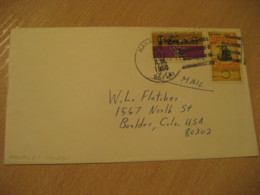 HANALEI 1968 HAWAII Cancel Air Mail Cover USA - Hawaï