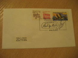 KALAUPAPA 1992 Moloka'l Mail By Male HAWAII Donkey Cancel Cover USA - Hawaii