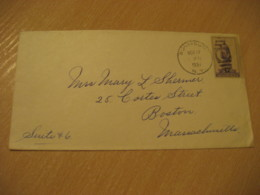 SUNMOUNT NY 1937 To Boston HAWAII Stamp Cancel Cover USA - Hawaii