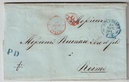 """1847, """" STUTTGART """" , Seltener """" PD """" Blau , #a1456 - Wuerttemberg"""