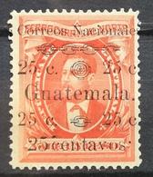 1886 GUATEMALA MH NG Justo Rufino Barrios Overprint - Guatemala