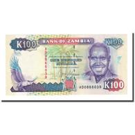 Billet, Zambie, 100 Kwacha, 1991, KM:34a, NEUF - Zambie