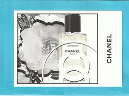 "CHANEL ""Les Exclusifs ""  **GARDENIA**  Superbe Grande Carte (17 / 12cm) - Perfume Cards"