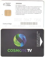 Greece-COSMOTE Tv Satellite Card(Country Of Origin UK) Chip V ,used - Autres Collections