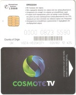 Greece-COSMOTE Tv Satellite Card(Country Of Origin UK) Chip K,used - Autres Collections