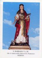 Isernia - Santino SANTA BARBARA Vergine E Martire - PERFETTO P84 - Religione & Esoterismo