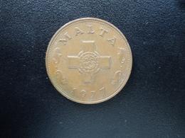 MALTE : 1 CENT  1977    KM 8     SUP - Malte