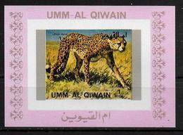 UMM AL QIWAIN  BF De Luxe   * *    NON DENTELE   Leopard - Francobolli