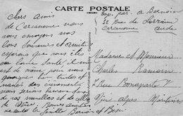 1940 CARTOLINA CON ANNULLO  CARCASONNE - Francia