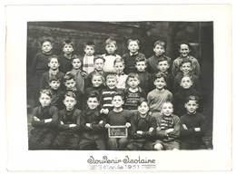 Photo Scolaire Gléry ( Ou Cléry ), Roche La Molière ( Loire ), Souvenir Scolaire 1951 - Personnes Anonymes