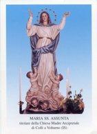 Colli A Volturno IS - Santino MARIA SS. ASSUNTA Chiesa Madre Arcipretale - PERFETTO P84 - Religione & Esoterismo