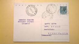 1955 INTERO CARTOLINA POSTALE SIRACUSANA 20 LIRE  ANNULLO MORROVALLE MACERATA - 6. 1946-.. Repubblica
