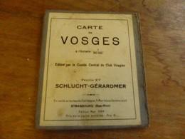Carte Vosges Schlucht Gerardmer 1925 - Cartes Topographiques