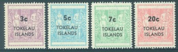 TOKELAU - MNH/** - 1967 - Yv 12-15 TAX OVERPRINT -  Lot 18346 - Tokelau