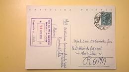 1959 INTERO CARTOLINA POSTALE SIRACUSANA 20 LIRE  ANNULLO CANEVA UDINE TIMBRO ENTE NAZ. BIBLIOTECHE - 6. 1946-.. Repubblica