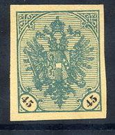 BOSNIA & HERZEGOVINA 1901 Arms 45 H. Imperforate.  Michel 28U - Bosnia And Herzegovina