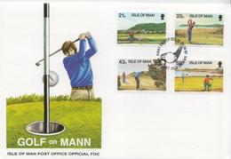 Isle Of Man Set On FDC - Golf