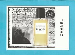 "CHANEL ""Les Exclusifs ""  **CUIR De RUSSIE**  Superbe Grande Carte (17 / 12cm) - Perfume Cards"