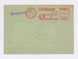 Umschlag AFS - NÜRNBERG, Carbidkontor GmbH, Fachgeschäft Für Schweißtechnik, Wacker Carbid 1940 - Deutschland