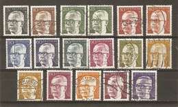Allemagne Fédérale 1970 - Président Heinemann - Petit Lot De 17 Timbres Oblitérés - Timbres