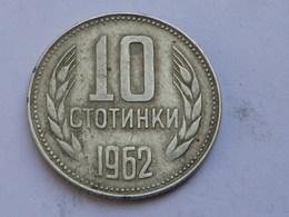 Bulgarie 10 Stotinki  1962          Km#62    TB - Bulgarie