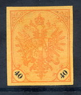 BOSNIA & HERZEGOVINA 1901 Arms 40 H. Imperforate On Ochre Paper Without Gum.  Michel Spez. 27 P U VI - Bosnia And Herzegovina
