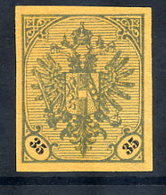 BOSNIA & HERZEGOVINA 1901 Arms 35 H. Imperforate On Ochre Paper Without Gum.  Michel Spez. 26 P U VI - Bosnia And Herzegovina