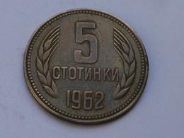 Bulgarie 5 Stotinki  1962     Laiton     Km#61    TTB - Bulgarie