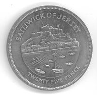 JERSEY - 25 PENCE 1977 - Jubilé D'argent D'Elizabeth II - Jersey
