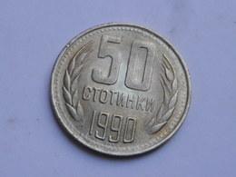 Bulgarie  50  Stotinki  1990  Laiton De Nickel   Km#89   SUP Velours De Frappe - Bulgarie