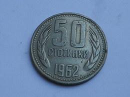 Bulgarie  50  Stotinki  1962  Nickel Laiton    Km#64   TTB   Lot 2 - Bulgarie