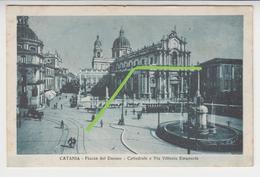 VO 231  /  SICILE /  SICILIA  /   CATANIA   /  Piazza Del Duomo - Cattedrale E Via Vittorio  Emanuele ( Tramway ) - Catania