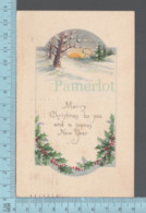 CPA - Merry  Christmas By Bibson Art - Cover Springfield Mass 1921. With USA Stamp - Noël