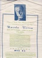 POETA POET AMADO NERVO MICHOACAN, MEXICO.  AÑO 1969. DOCUMENTO SOBRE SEDA SILK SOIE-RARISIME-BLEUP - Other Collections