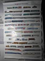 Affiche SNCF Chemin De Fer Le Matériel Ferroviaire 1995 Dimension : 40 X 59,5 Cm - Chemin De Fer