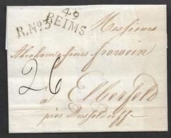 1814 - LSC - REIMS A ELBERFELD (Province De Rhin) Près DÜSSELDORF A ABRAHAM FROWEIN ( FABRICANT TEXTILE ET MAIRE ) - 1801-1848: Précurseurs XIX