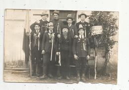 Cp , Carte Photo , Militaria  , Vierge, Conscrits , Honneur à La Classe 1922 , Commune De VAUX,Vienne - Personnages