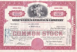 GULF STATES UTILITIES COMPANY, USA, SHAREHOLDING ACCION ACTION YEAR 1953, AVEC TIMBRES FISCALES DERRIERE-BLEUP - Shareholdings